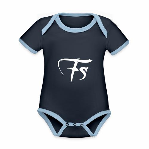 Fs Clothing Italy - Body da neonato a manica corta, ecologico e in contrasto cromatico