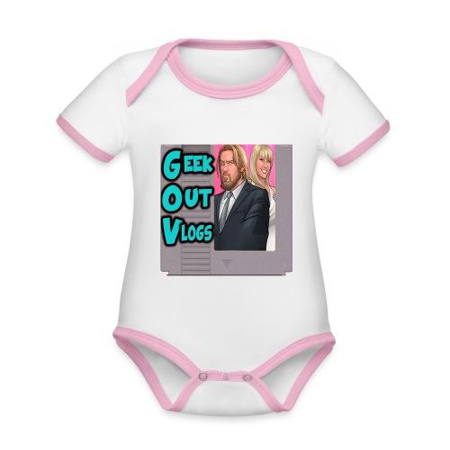 GeekOut Vlogs NES logo - Organic Baby Contrasting Bodysuit