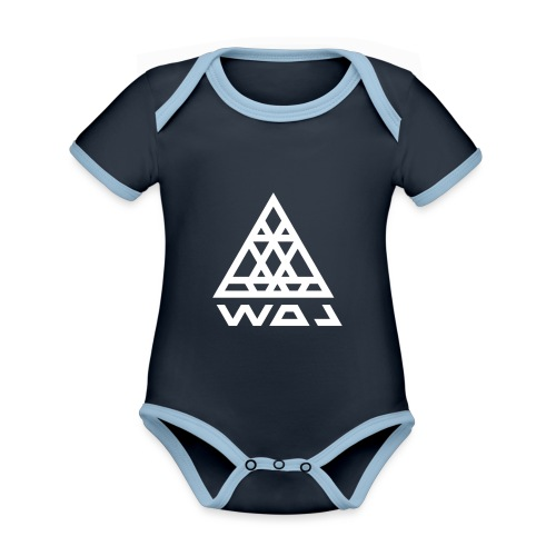 Triangel Konst - Ekologisk kontrastfärgad kortärmad babybody