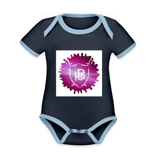 Hustler Brand - Body Bébé bio contrasté manches courtes