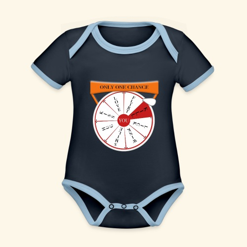 wheel of fortune? - Body da neonato a manica corta, ecologico e in contrasto cromatico
