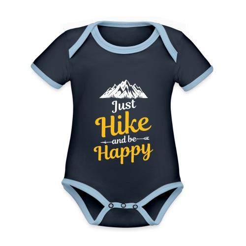 Just Hike And Be Happy Nature-Design für Hiking - Baby Bio-Kurzarm-Kontrastbody