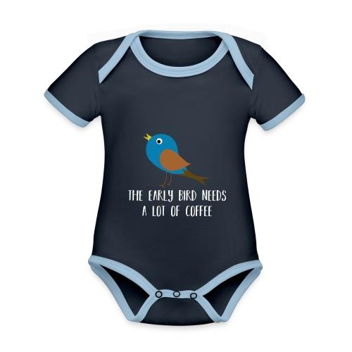 The early bird needs a lot of COFFEE v2 - Baby Bio-Kurzarm-Kontrastbody