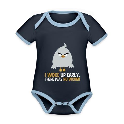 I woke up early. There was no worm! v1 - Baby Bio-Kurzarm-Kontrastbody