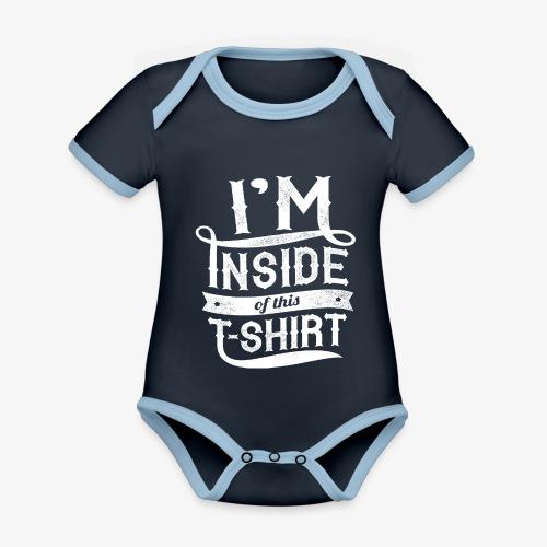 Inside this T-shirt - Organic Baby Contrasting Bodysuit