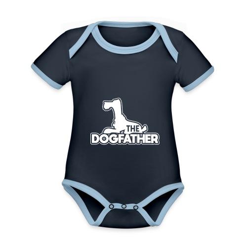 The DOGFATHER - Baby Bio-Kurzarm-Kontrastbody