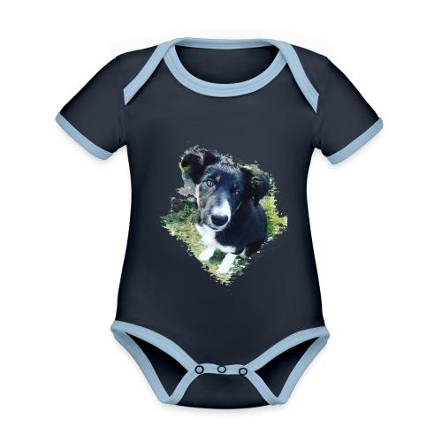 colliegermanshepherdpup - Organic Baby Contrasting Bodysuit