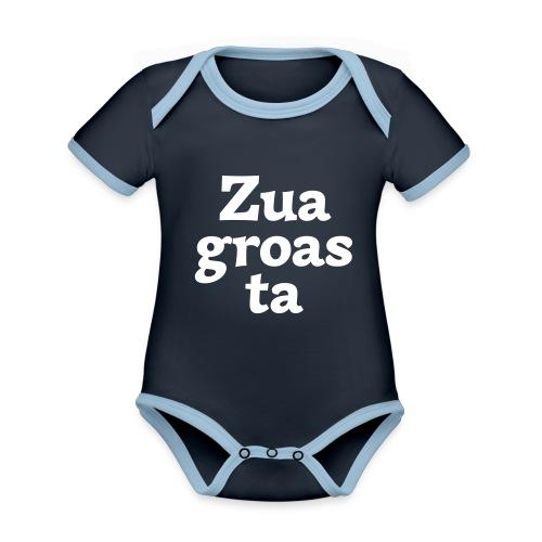 Zuagroasta - Baby Bio-Kurzarm-Kontrastbody