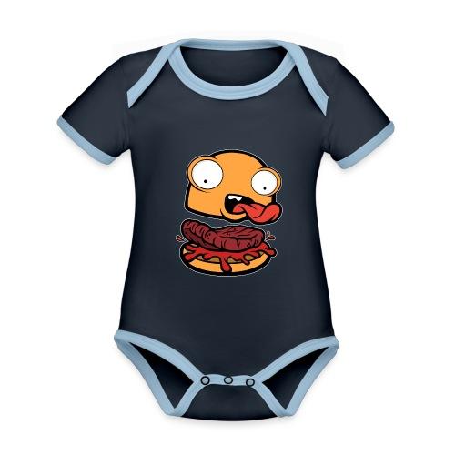 Crazy Burger - Body contraste para bebé de tejido orgánico