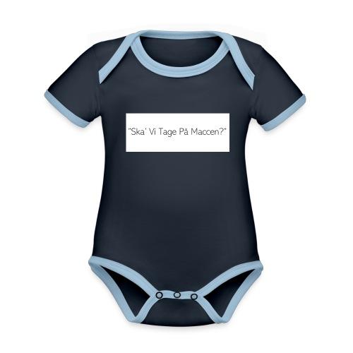 Ska' Vi Tage På Maccen? - Kortærmet økologisk babybody i kontrastfarver