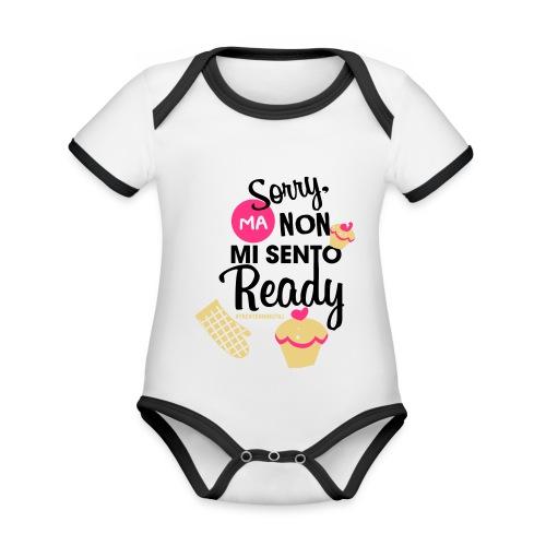 Non mi sento pronto - 30enninutili - Body da neonato a manica corta, ecologico e in contrasto cromatico