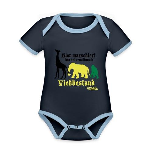 viehbestandinternational2 - Baby Bio-Kurzarm-Kontrastbody