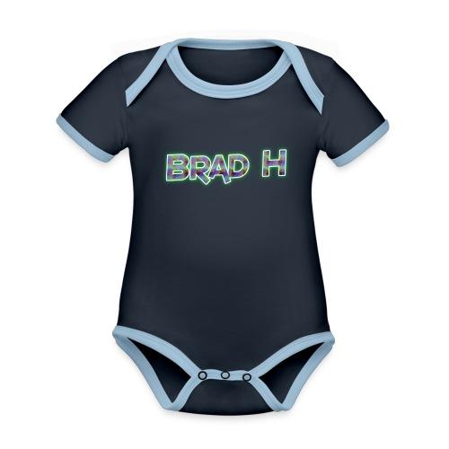 Official Brad H Logo - Organic Baby Contrasting Bodysuit