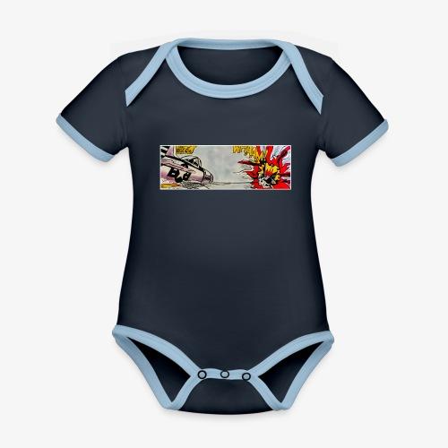 ATOX - Body da neonato a manica corta, ecologico e in contrasto cromatico