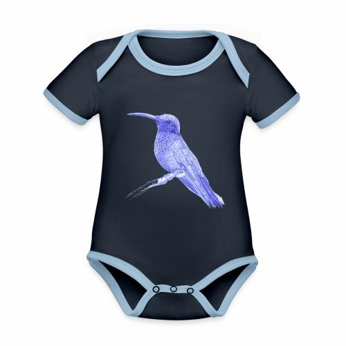 Colibri au stylo-bille - Body Bébé bio contrasté manches courtes