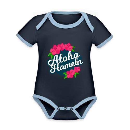 Aloha Hameln | Hawaii SunShine | - Baby Bio-Kurzarm-Kontrastbody