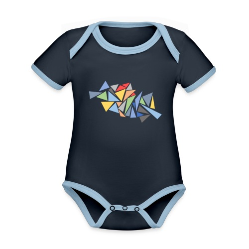 Modern Triangles - Organic Baby Contrasting Bodysuit