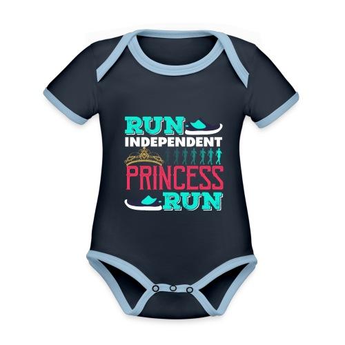 RUN INDEPENDENT PRINCESS RUN - Baby Bio-Kurzarm-Kontrastbody