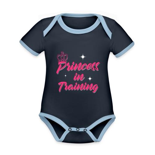 Princess In Training - Baby Bio-Kurzarm-Kontrastbody