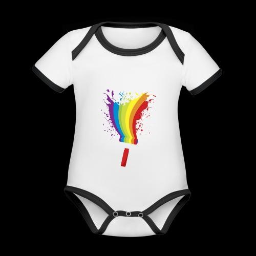 Paint roller Vivid Color - Baby Bio-Kurzarm-Kontrastbody