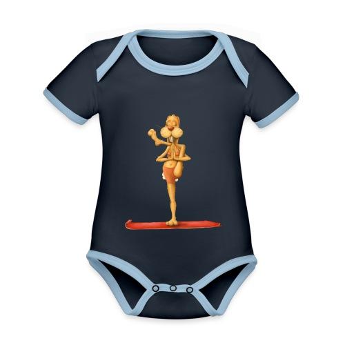Yoga - Rabbit - Baby Bio-Kurzarm-Kontrastbody