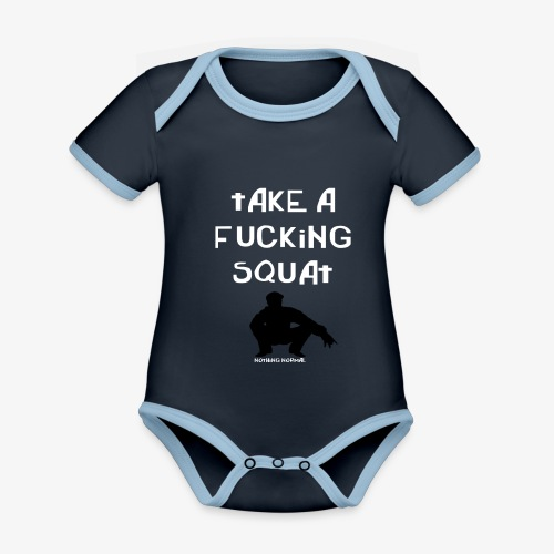 ''Take a squat'' Women's hoodie - Organic Baby Contrasting Bodysuit