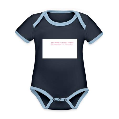 BABY BODY Girl - Ekologisk kontrastfärgad kortärmad babybody