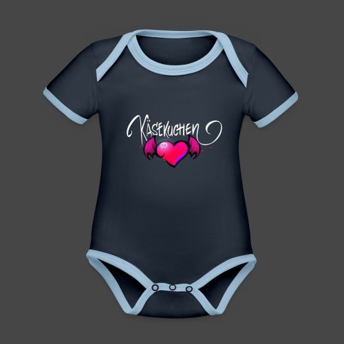 Logo and name - Organic Baby Contrasting Bodysuit