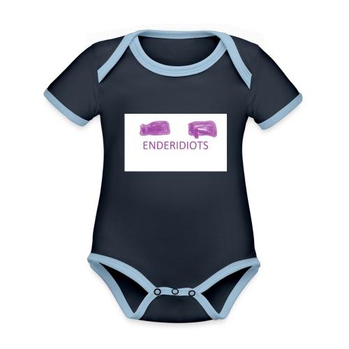 enderproductions enderidiots design - Organic Baby Contrasting Bodysuit