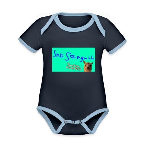 Llamanators2 - Organic Baby Contrasting Bodysuit