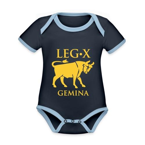 leg_x_gemina - Body da neonato a manica corta, ecologico e in contrasto cromatico