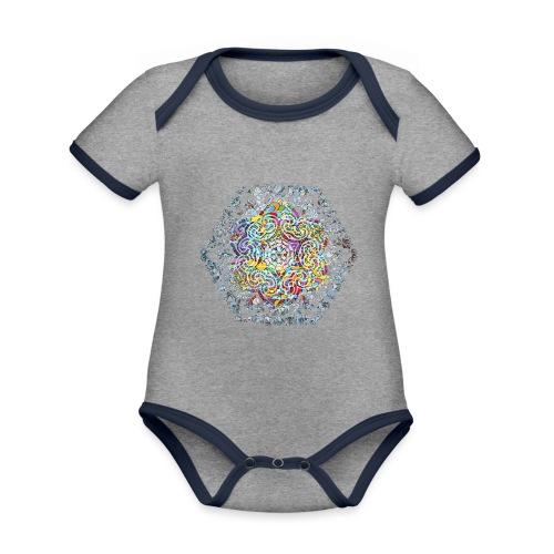 Flower Mandala - Organic Baby Contrasting Bodysuit
