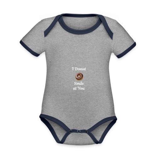 Donut Care - Baby contrasterend bio-rompertje met korte mouwen