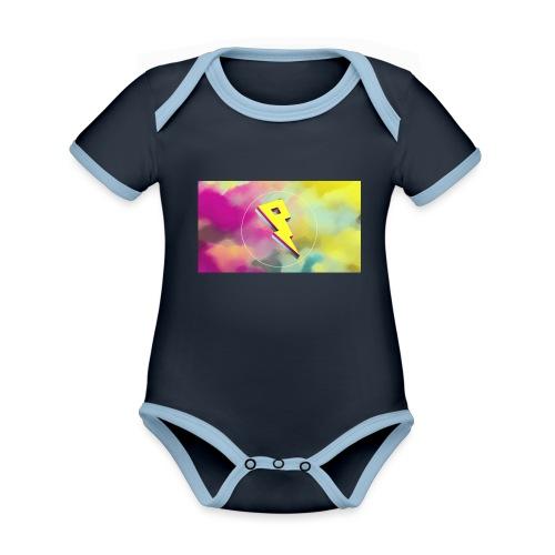 lightning bolt - Organic Baby Contrasting Bodysuit