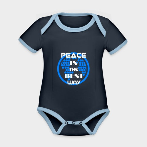 Peace is the best way - Organic Baby Contrasting Bodysuit