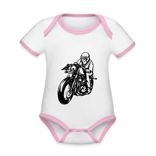 Motorradfahrer - Organic Baby Contrasting Bodysuit