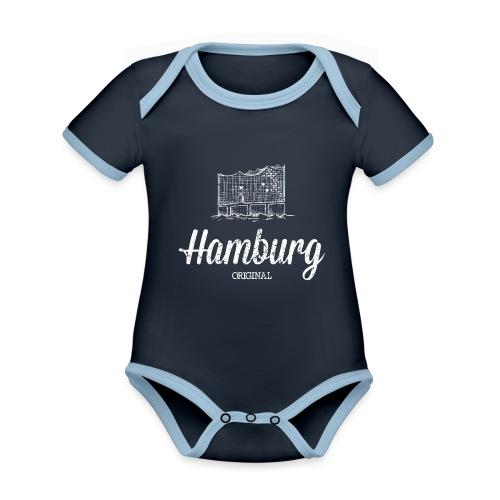 Hamburg Original Elbphilharmonie - Baby Bio-Kurzarm-Kontrastbody