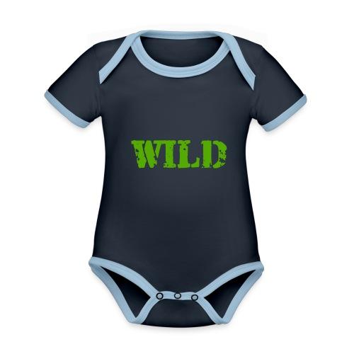wild - Body da neonato a manica corta, ecologico e in contrasto cromatico