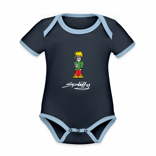spliffy - Organic Baby Contrasting Bodysuit