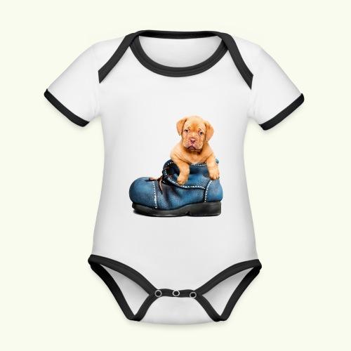 Cucciolo - Body da neonato a manica corta, ecologico e in contrasto cromatico