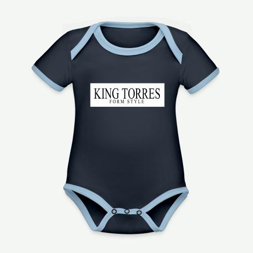 king torres - Body contraste para bebé de tejido orgánico