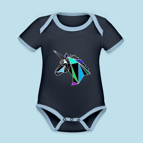 unicorno - Body da neonato a manica corta, ecologico e in contrasto cromatico