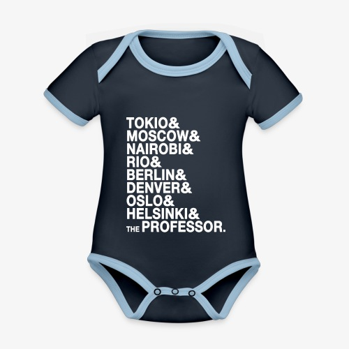 Casa di Carta - Donna Canottiera - Body da neonato a manica corta, ecologico e in contrasto cromatico