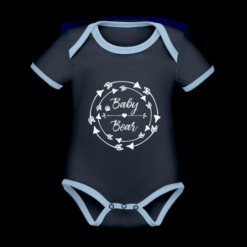 Baby Bear - ethno Indianer Pfeile - Baby Bio-Kurzarm-Kontrastbody
