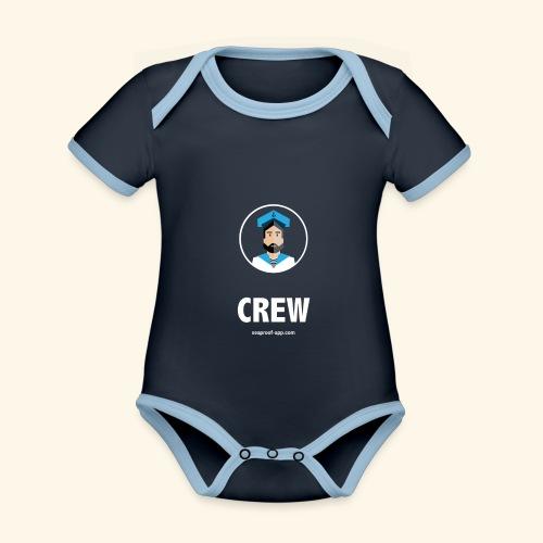 SeaProof Crew - Baby Bio-Kurzarm-Kontrastbody