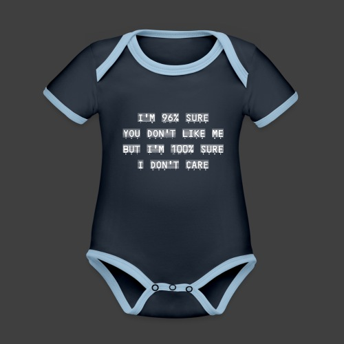 96% - Organic Baby Contrasting Bodysuit