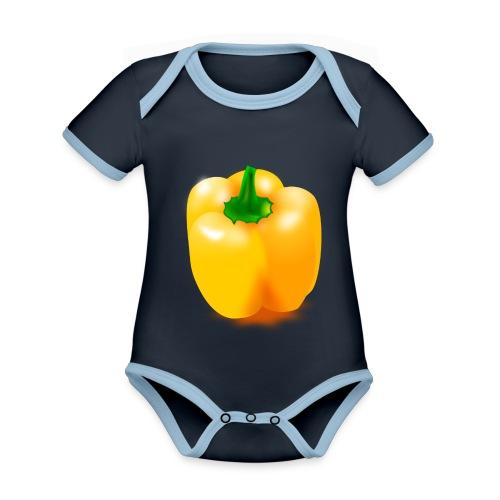 paprika 158476 1280 - Baby Bio-Kurzarm-Kontrastbody