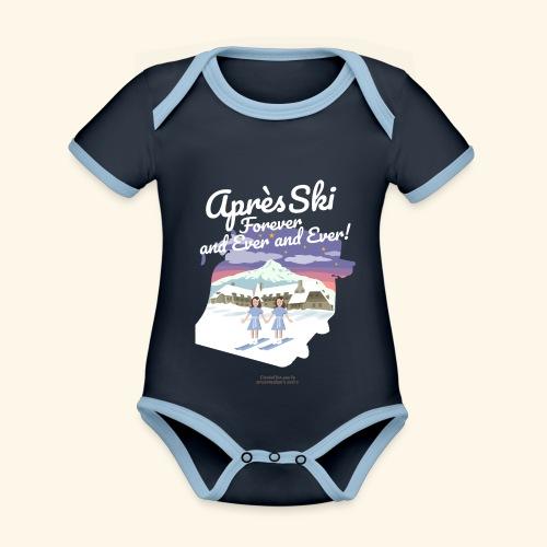 Apres Ski Forever - Baby Bio-Kurzarm-Kontrastbody
