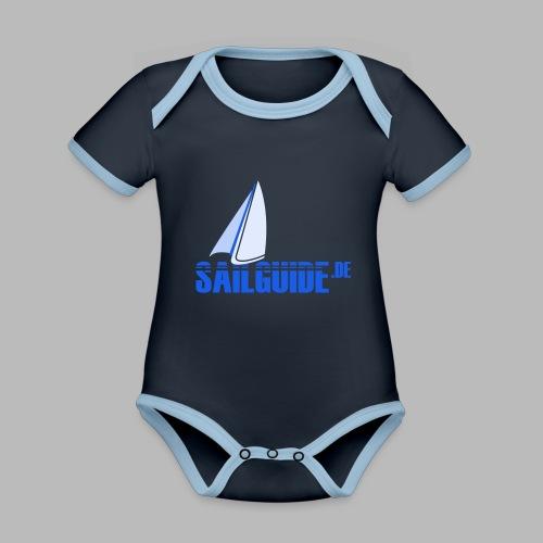 Sailguide - Baby Bio-Kurzarm-Kontrastbody
