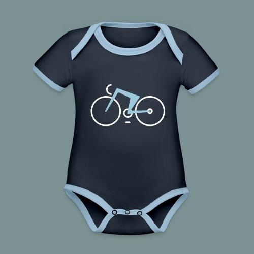 Bikes against cancer - Kortærmet økologisk babybody i kontrastfarver